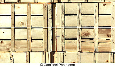 background with wooden boxes