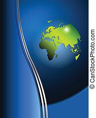 Background with world globe