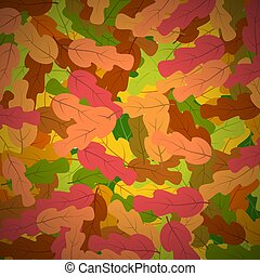 Background with yellow autumn leaves