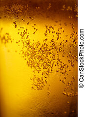Background with yellow beer