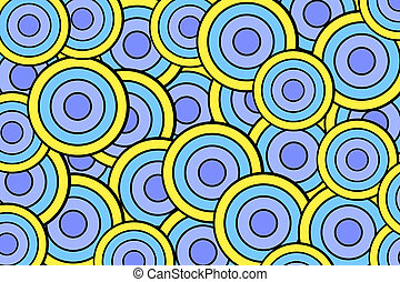 background with yellow blue circles