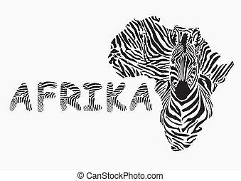 Background with zebra motif