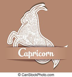 Background with zodiac sign Capricorn