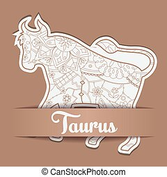 Background with zodiac sign Taurus