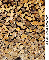 Background wood logs for fireplace