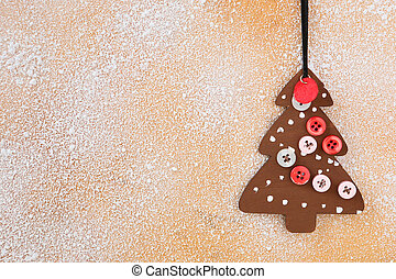 background - wooden Christmas decoration