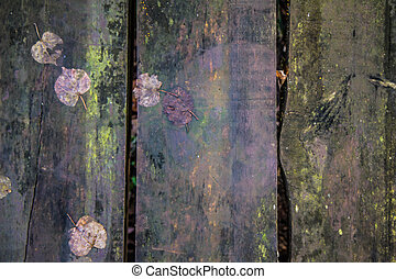 Background: wooden planks