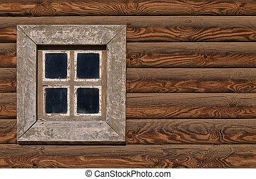 wooden wall hut