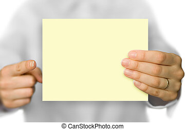 background - yellow business card