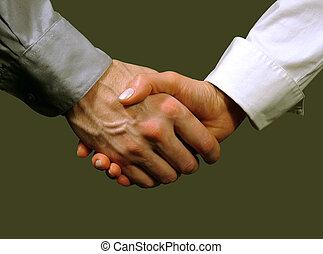 background), zakelijk, (gray, handdruk, man