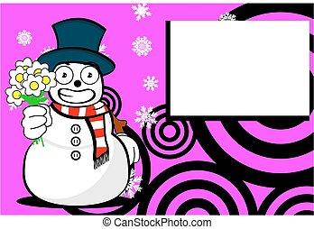 background13, homme neige, dessin animé, noël