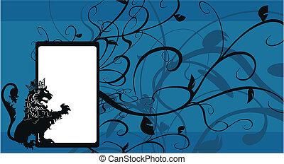 background6, araldico, leone