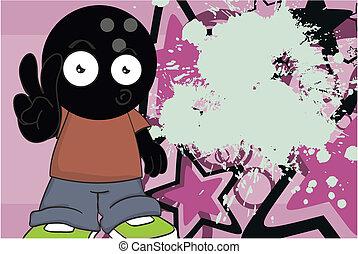 background6, bowling, cartone animato, capretto