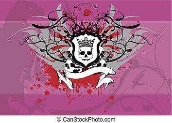 background6, heraldisch, schedel