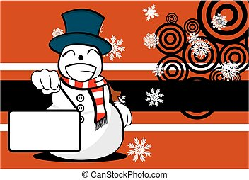 background6, homme, dessin animé, neige, noël