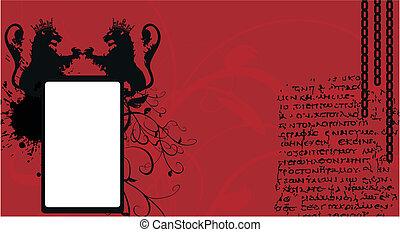 background7, araldico, leone