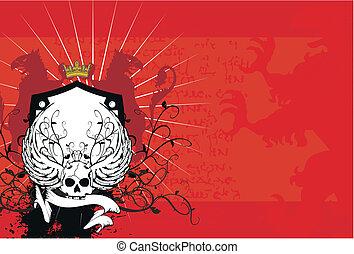 background7, heraldisch, schedel