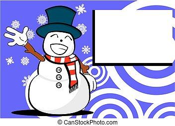 background7, homme neige, dessin animé, noël