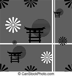 background7, padrão, nippon, japoneses
