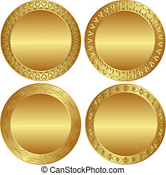 backgrounds - round golden background