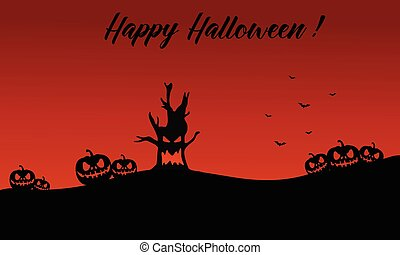 Backgrounds halloween pumpkin and monster