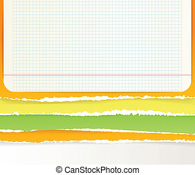Backgrounds of divided color paper