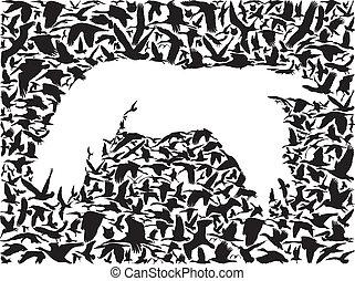 Backgrounds of flying birds