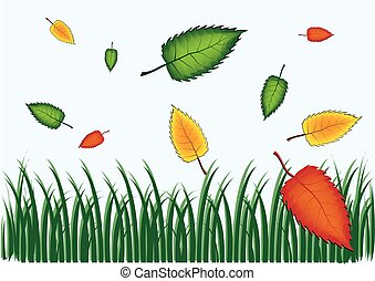 Backgrounds Of Green Grass And Leaves
