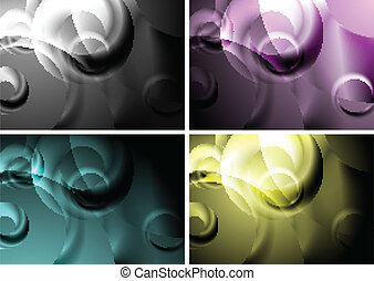 Backgrounds with abstract rings