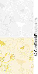 Backgrounds with butterflies