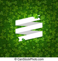Backgrounds With Clovers And Ribbon