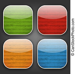 Backgrounds with colorful wooden texture for the app icons