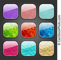 Backgrounds with grunge texture for the app icons