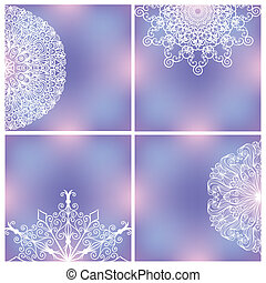 Backgrounds With Lacy Patterns