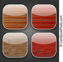 Backgrounds with wooden texture for the app icons
