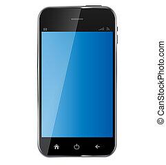 background..vector, mobile, astratto, vuoto, isolato, illustrazione, telefono, disegno, realistico, schermo bianco