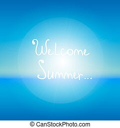 background.welcome, cielo, astratto, summer., mare