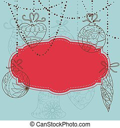 Backgroundwith christmas toys - Vector backgroundwith ...