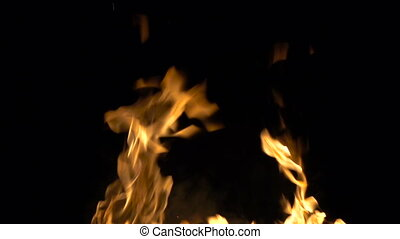 Backgrounf of burning fire with smoke