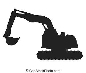 backhoe, 机器, 图标