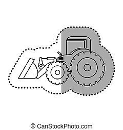 backhoe, carregador, figura, ícone