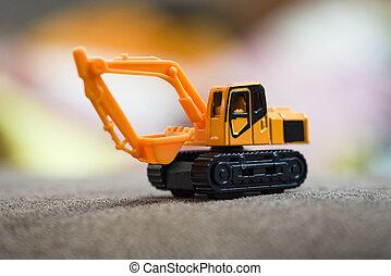 backhoe construction equipment / excavator loader machine during backhoe yellow
