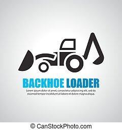 backhoe loaders, vector symbol
