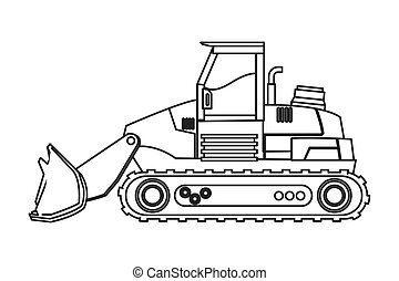 backhoe, máquina, ícone