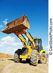 backhoe, travaux, excavateur, chargeur