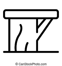 Backless bench icon. Outline backless bench icon for web design isolated on white background