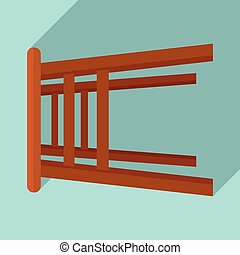 Backless chair icon. Flat illustration of backless chair vector icon for web design