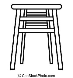 Backless chair icon. Outline backless chair icon for web design isolated on white background