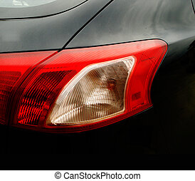 backlight of a modern car