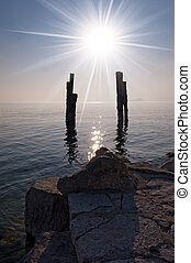 Backlight on the Garda Lake - Italy